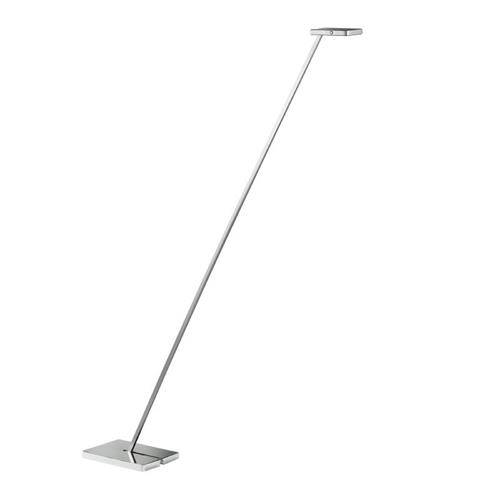 Furzton LED Dimmable Silver and Black Floor Lamp FH1294