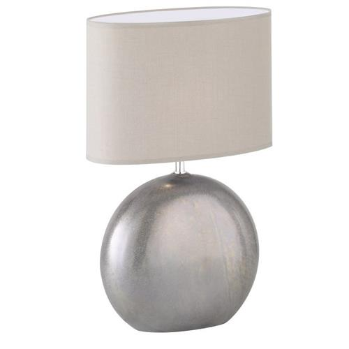 Lino Grey Ceramic Table Lamp With Light Grey Shade 50244