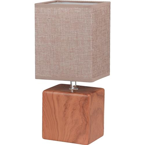 Goodwood Ceramic Wood Coloured Table Lamp FH1372