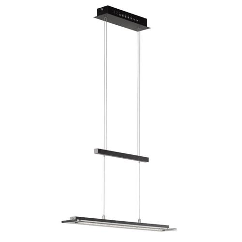 Long Tenso TW Black And Chrome Rise & Fall LED Pendant 60457