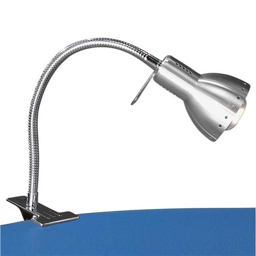 Pittsburgh Aluminium/Chrome Clamp On Reading Light 82671