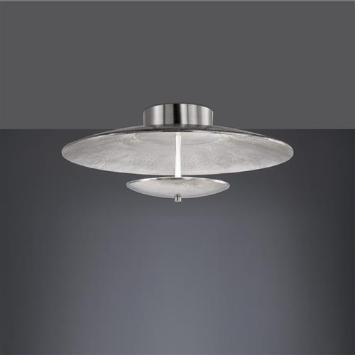 Oakridge Nickel Semi-Flush LED CCT Ceiling Light FH0856