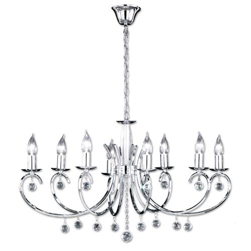 Sala Polished Chrome 8 Light Multi-Arm Pendant 11018