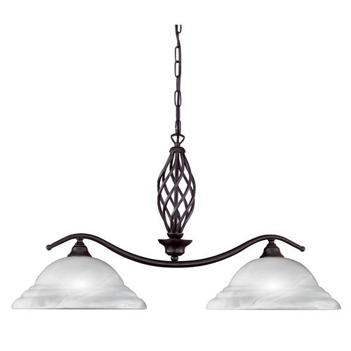 Fradswell Rust Coloured Double Pendant Light FH1253