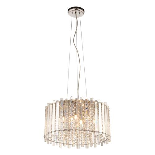 Baudelaire 5 Light Chrome Plate/Crystal Ceiling Pendant 97869-69