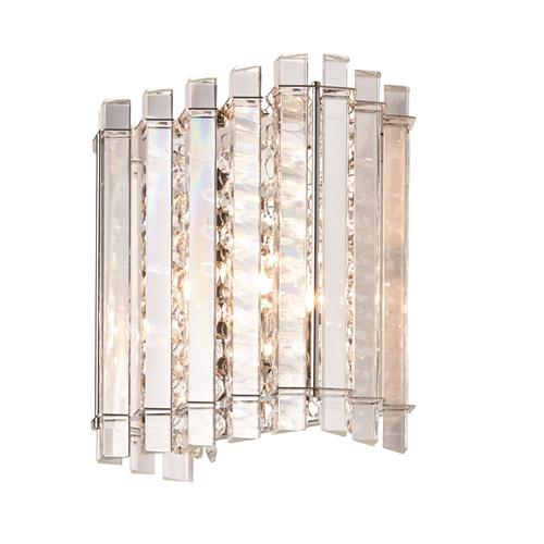 Baudelaire Chrome Plate/Crystal Single Wall Light 07870-69