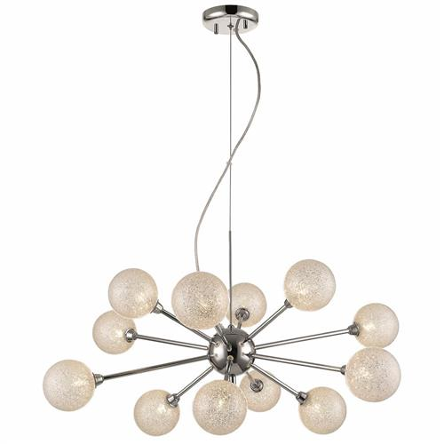Belicia Polished Chrome/Crystal Ceiling Pendant Fitting 076CL12