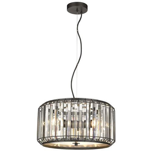 Belladonna Black Large Caged Crystal Ceiling Pendant Fitting 042BL3D