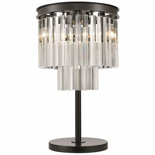 Bellamy Crystal Tiered Table lamp 036CS3T