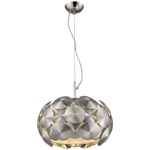 Benedetta Brushed Chrome Disc Five Light Pendant 041CHD