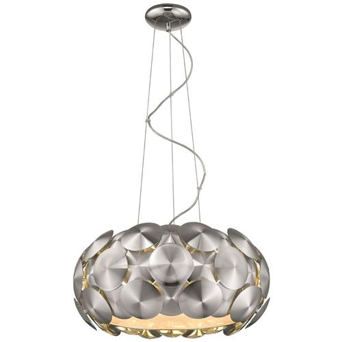 Benedetta Brushed Chrome Disc Six Light Fitting 050CHD