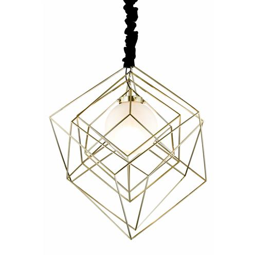 Benita Brass Plated Geometric Pendant Fitting 050BRA1D