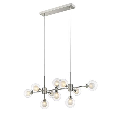 Daryon Satin Nickel Multi-Arm 10 Light Pendant 034SN10D