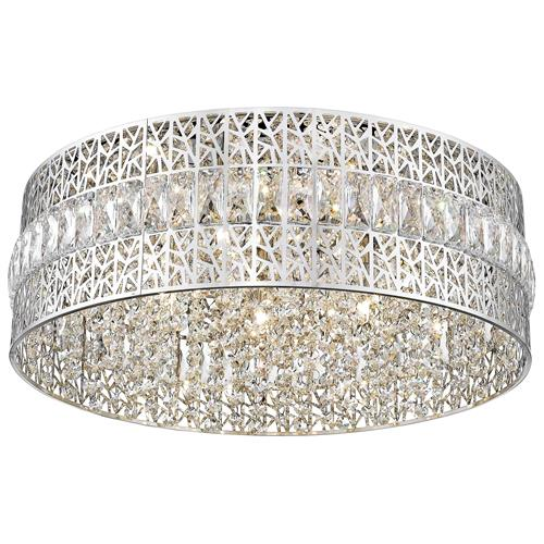Dashielle Crystal and Polished Chrome 7 Light 051CH7F