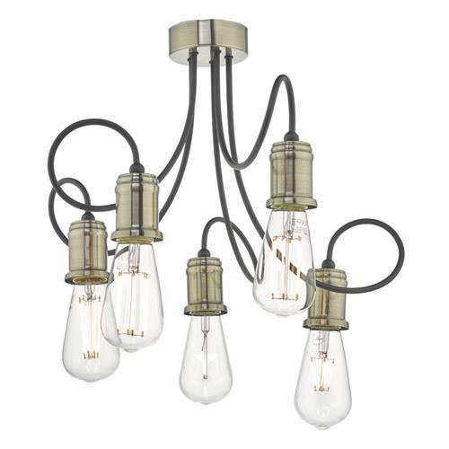 Alzbet Antique Brass Semi Flush Ceiling Light Alz5475 The Lighting Superstore