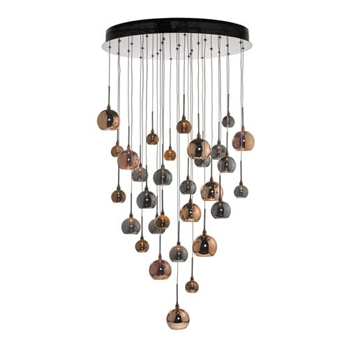 Aurelia 30 Light Cluster Pendant In Copper & Bronze AUR3364
