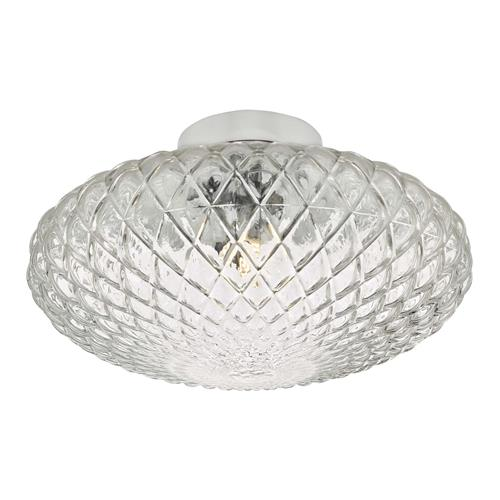 Bibiana Chrome Clear Glass Large Wall/Ceiling Light BIB3008