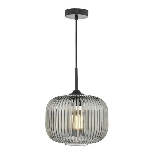 Demarius Black And Smoked Glass Pendant Light DEM0110