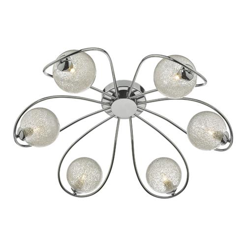 Esma 6 Light Semi Flush Polished Chrome ESM6450