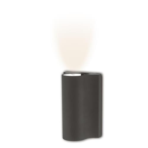 Haxton Dark Grey Garden Led Wall Light, Outdoor Wall Light With Bluetooth Speaker