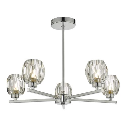 Idina 5 Light Semi Flush Polished Chrome IDI5450