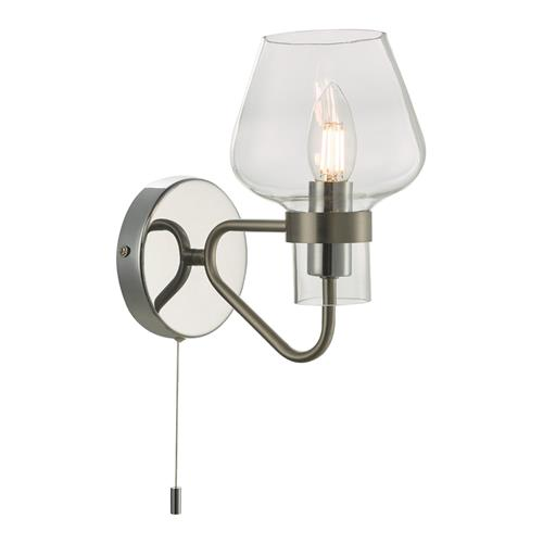 Keta 1 Light Wall Light Satin Chrome & Polished Chrome KET0746