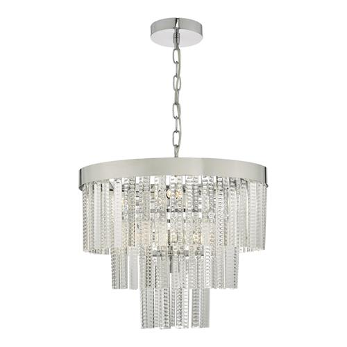 Lorant 7 Light Tier Pendant Clear & Polished Chrome LOR3408