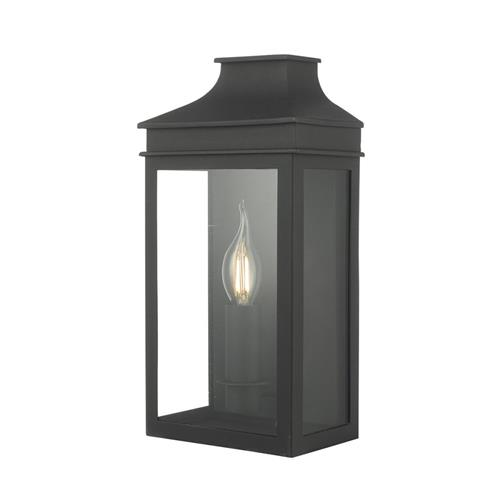 Vapour Single Black Half Lantern Wall Light VAP5222