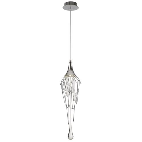 Haakon Single Chrome and Glass Ceiling Pendant IST7855