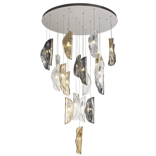 Haddow 21 Light Chrome and Glass Ceiling Pendant WRA7860