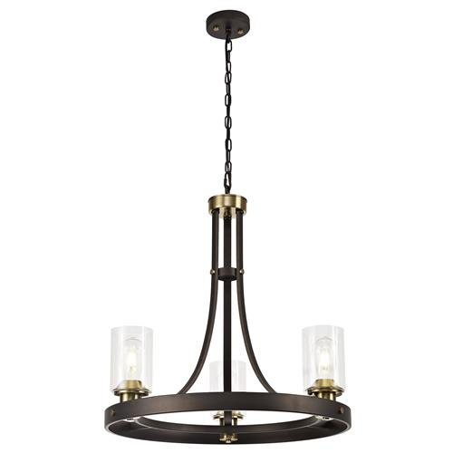Hamlet 3 Light Brown and Bronze Ceiling Pendant MAL7551