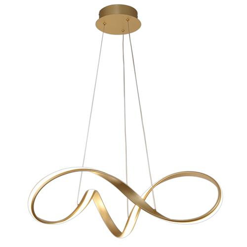 Haskell 760 Medium Gold Finish LED Pendant BRA7077