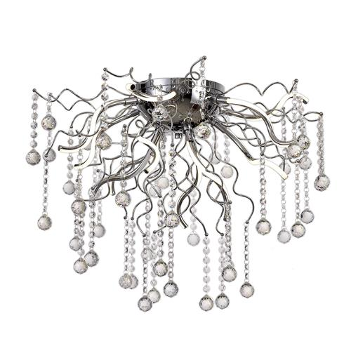 Helios Chrome & Crystal Semi-Flush LED Ceiling Light JAX8127