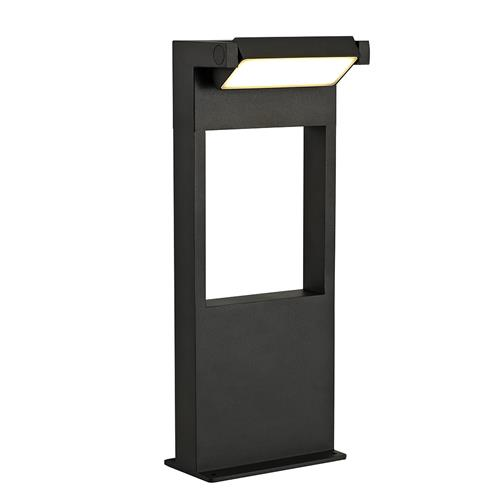 Uriel Small Graphite Black LED Outdoor Post LUC7185