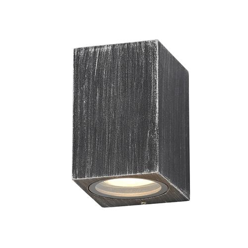 Uzoma Single Black Silver Rectangle Wall Light STR7223