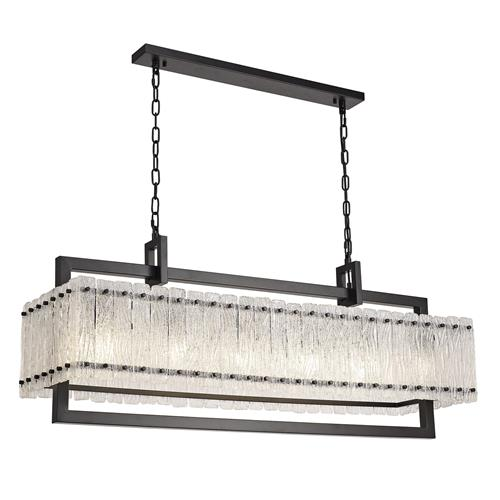 Vincenzo Matt Black 12 Light Ceiling Pendant SOR7686