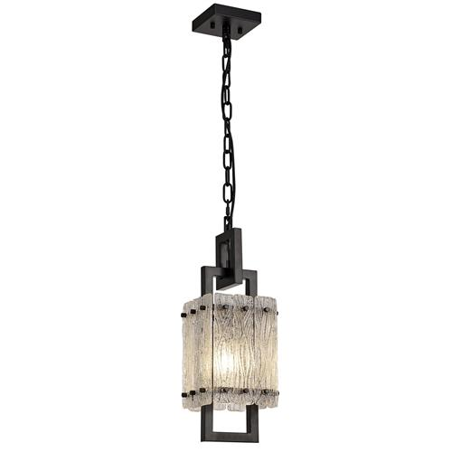 Vincenzo Matt Black Single Ceiling Pendant SOR7683