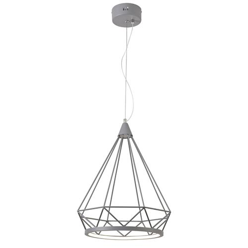 Warren 350mm Matt Grey LED Pendant ERI8142