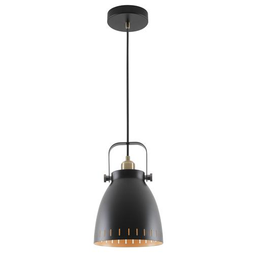 Waylon Medium Black and Antique Brass Single Pendant BOJ7727