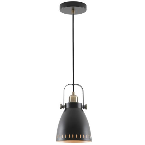 Waylon Small Black and Antique Brass Single Pendant BOJ7726