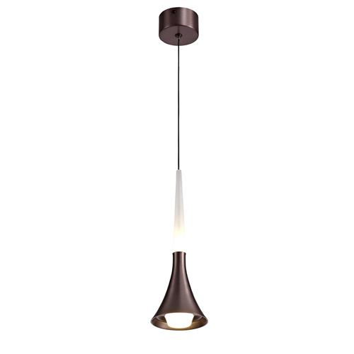 Wendell Single Satin Brown LED Pendant LUC7161
