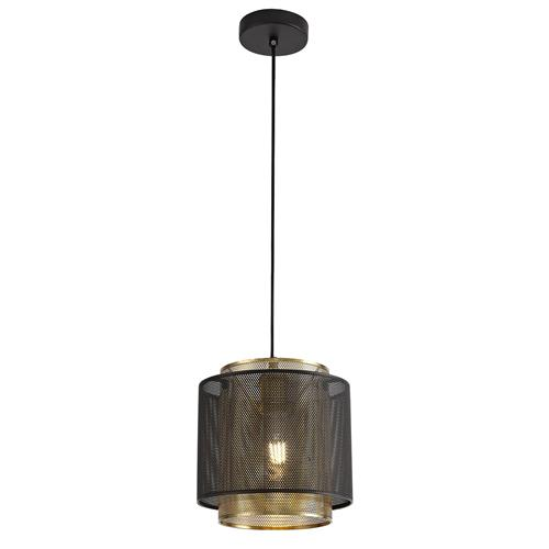 Westyn Small Matt Black and Satin Gold Pendant LAS7603