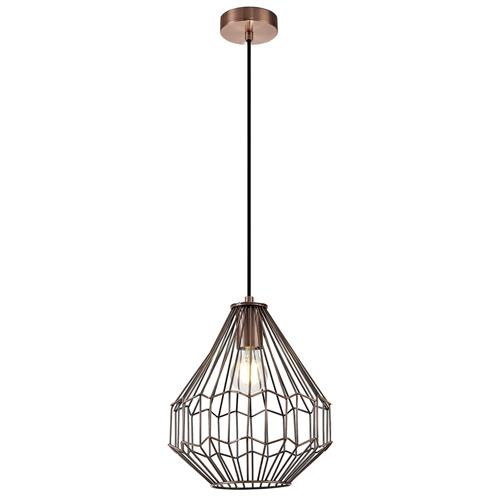 Whitaker Narrow Antique Copper Pendant VAL7133