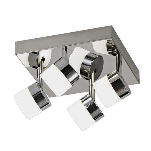 Wilbert 4 Light LED Chrome Bathroom Ceiling Fitting BOL7742