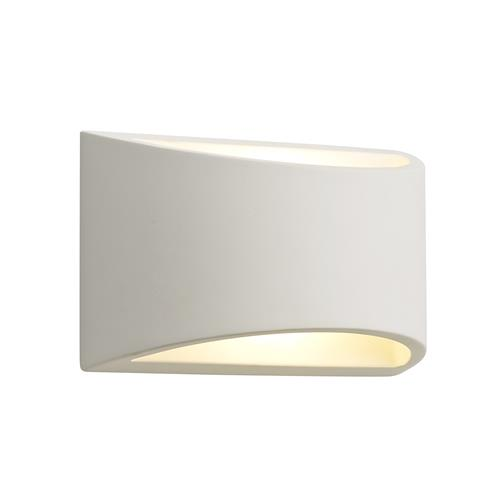 Willard Curved Rectangle Paintable Wall Light STU7175