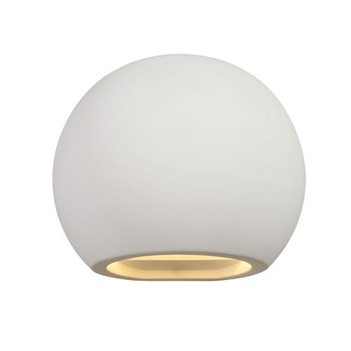 Willard Round Paintable White Wall Light STU7714