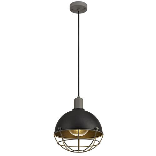 Xaniyah Matt Black and Grey IP65 Exterior Pendant GLO7850