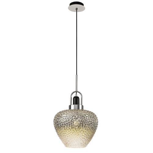 Xavyon Black and Chrome Single Ceiling Pendant AST7442