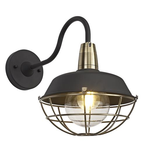 Xianna IP65 Black and Bronze Outdoor Wall Light KOB7846