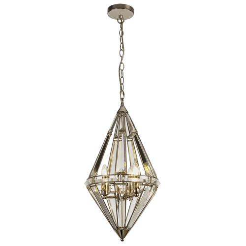 Xiomar Diamond Nickel and Glass Crystal Pendant CHA8140